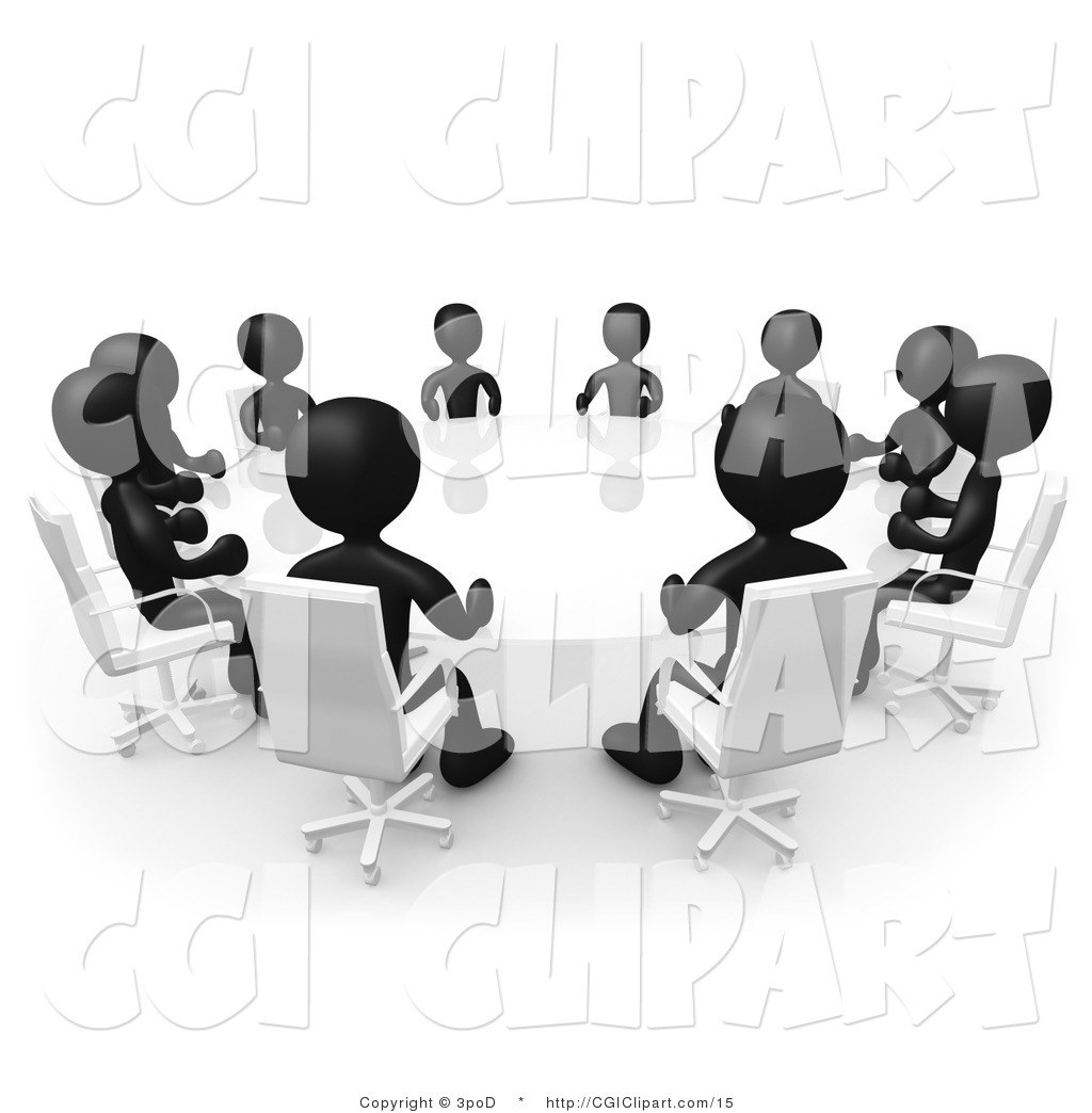 Meeting clipart black and white Images White Clipart Panda meeting%20clipart