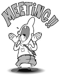Meeting clipart black and white Meeting Clipart Free Meeting