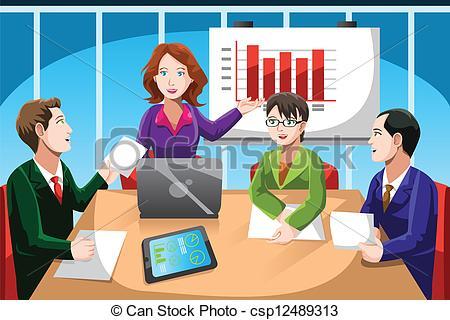 Meeting clipart boardroom meeting Art csp12489313 Vector meeting vector