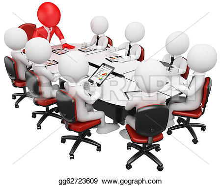 Meeting clipart business meeting Tablet gg62723609 Clipart with image