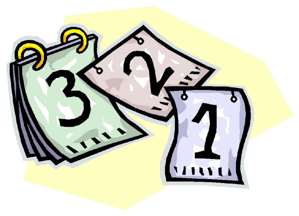 Date clipart schedule change #3