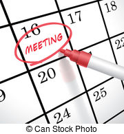 Meeting clipart calendar #5