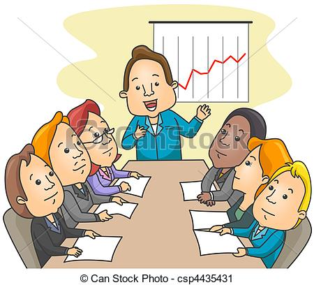 Meeting clipart cartoon Clipart Meeting of Business Art