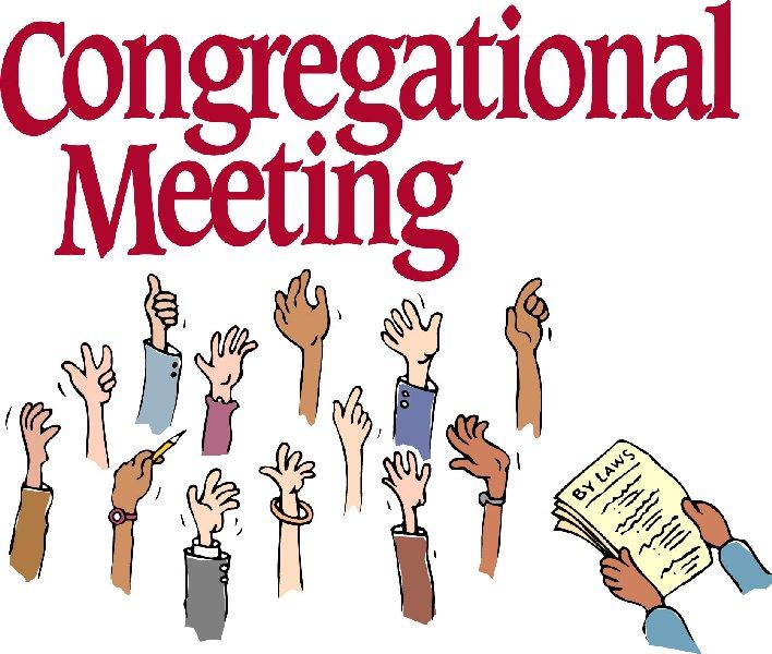 Meeting clipart church staff Votersmeeting1 Church Meetings UU Members