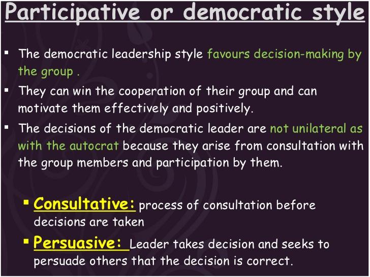 Meeting clipart democratic leadership Styles Leadership Participative