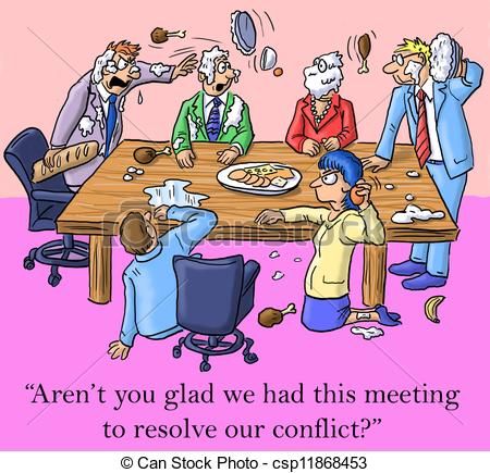 Meeting clipart funny #6
