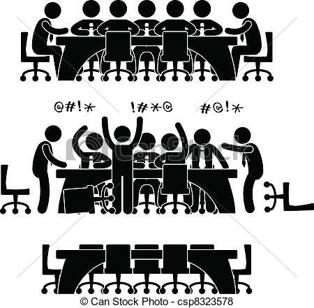 Meeting clipart group discussion  of Meeting Business csp8323578