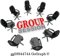 Meeting clipart group discussion Around Circle Group for Chairs
