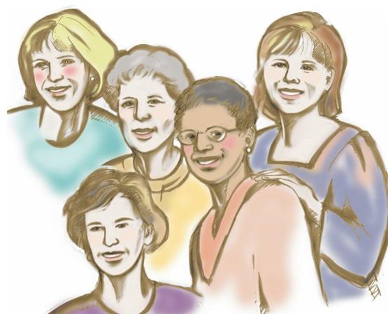 Meeting clipart group woman Clipart women clip clipart Women