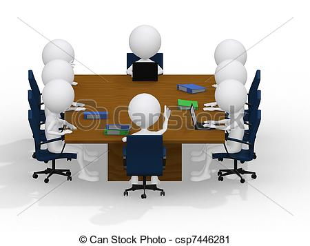 Meeting clipart group work Clipart of business people Illustration
