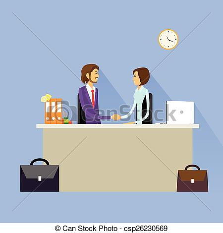 Desk clipart business person Shake and handshake hand agreement