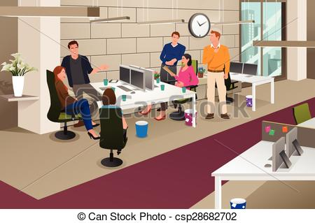 Meeting clipart informal communication #7