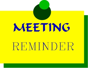 Meeting clipart meeting reminder Clip image reminder images General