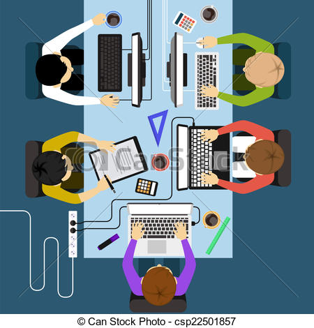 Office clipart office management Vector of meeting Office management