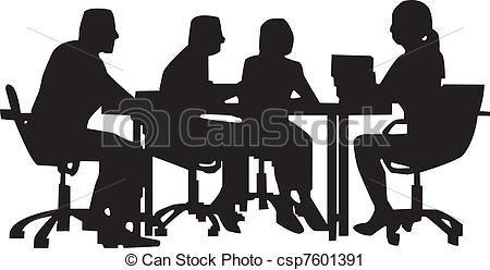 Office clipart office meeting Office 483 Vector Illustrations
