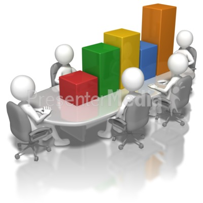 Meeting clipart powerpoint presentation Table Graph and Meeting Presentation