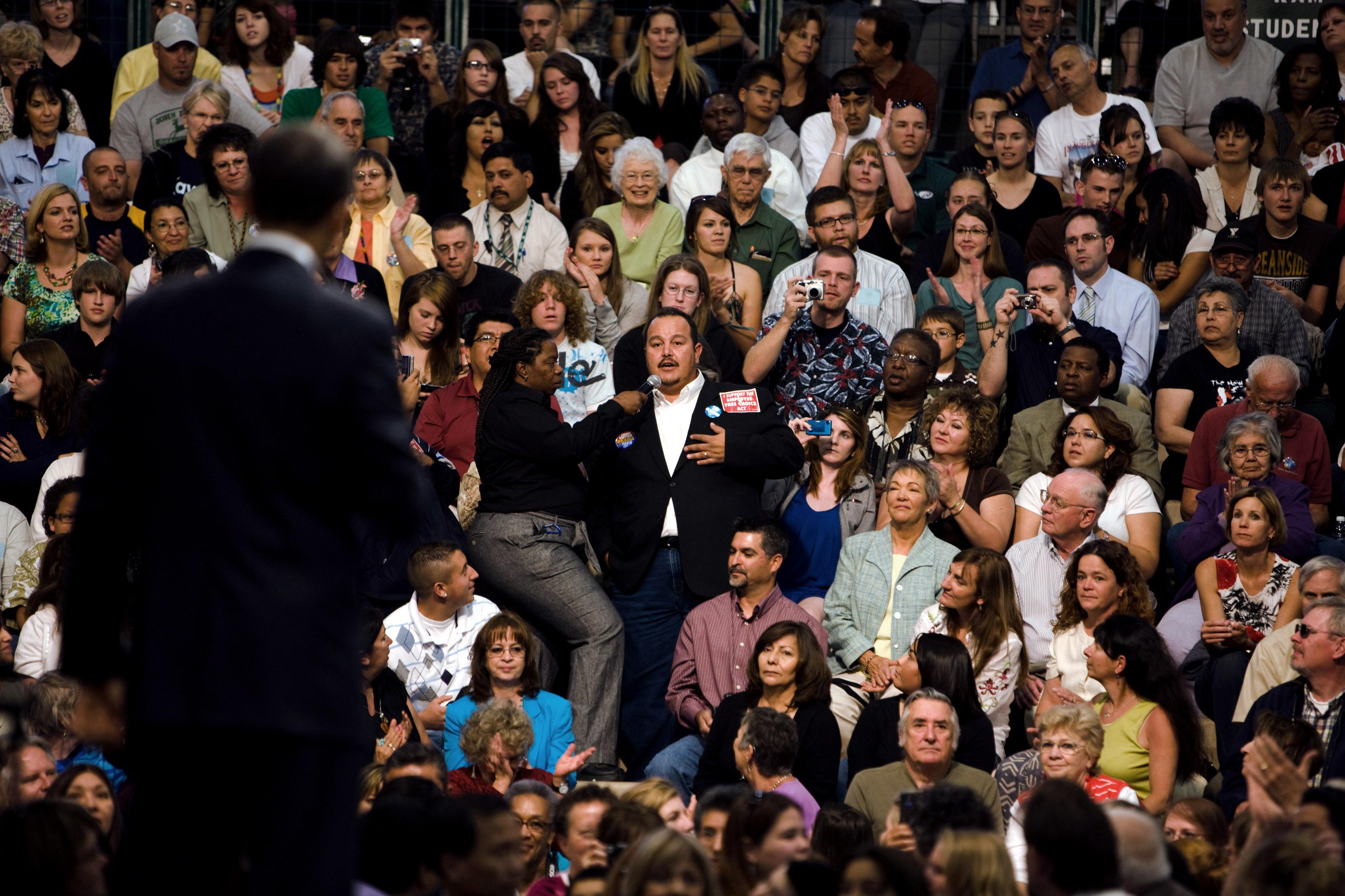 Crowd clipart public Free Speaking Obama Barack