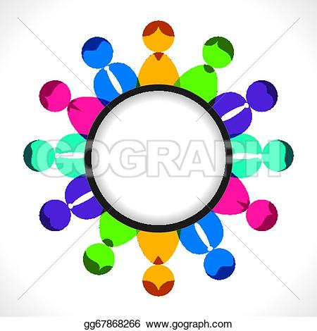 Meeting clipart result discussion Illustration or or Stock Vector