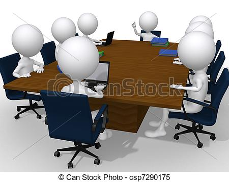 Meeting clipart result discussion Office a group group Stock