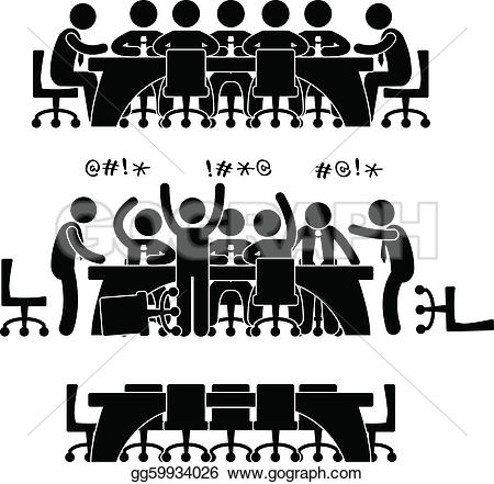 Meeting clipart result discussion Of set meeting Art workers