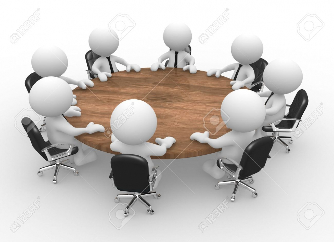 Meeting clipart round table conference Business Regard To Round Table