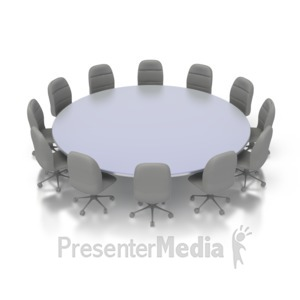 Meeting clipart round table conference Presentation Conference Room Table ID#