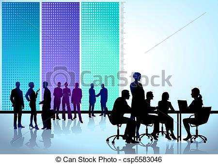 Meeting clipart round table conference Art of round Search