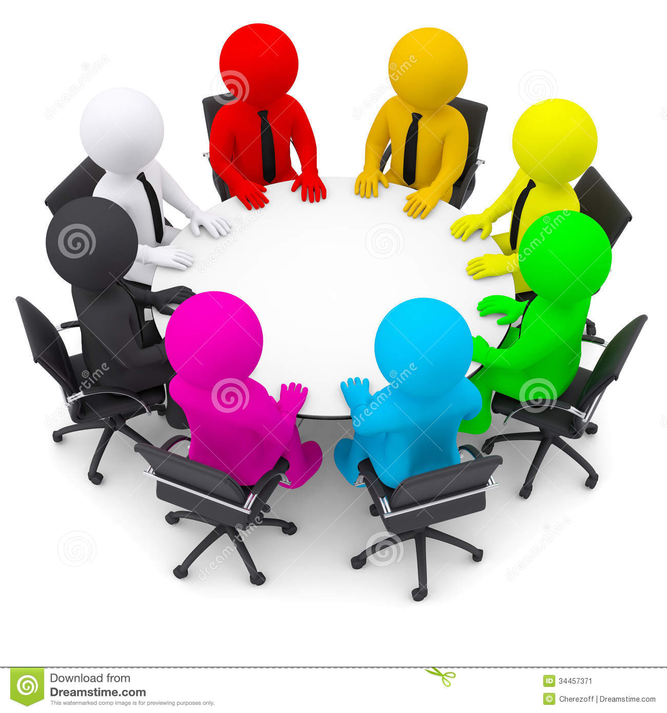 Meeting clipart round table conference Round clipart Round sitting
