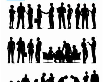 Meeting clipart silhouette #9