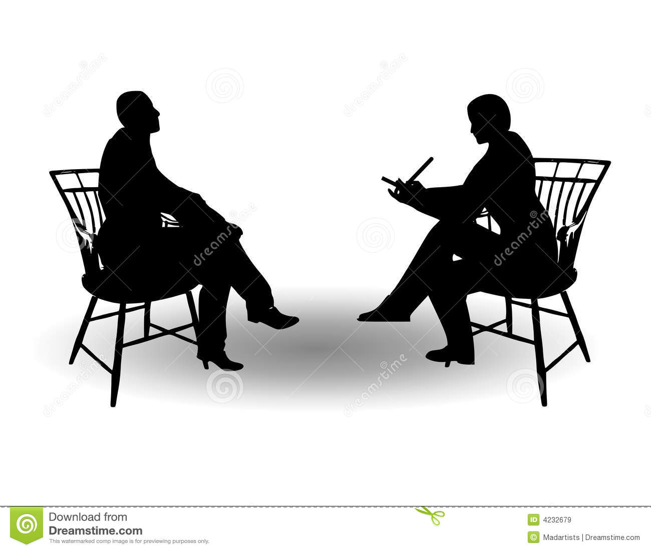Meeting clipart silhouette On Royalty one Interview Kochelaevskiy