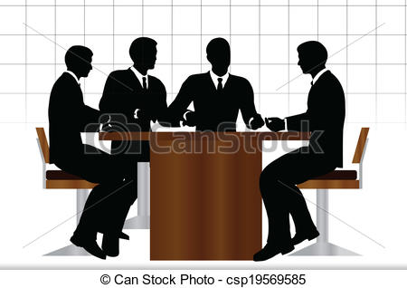 Meeting clipart silhouette Sitting Clipart silhouette silhouette meeting