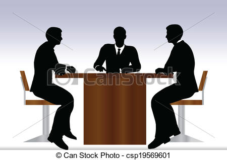 Meeting clipart silhouette Meeting Vector sitting sitting people