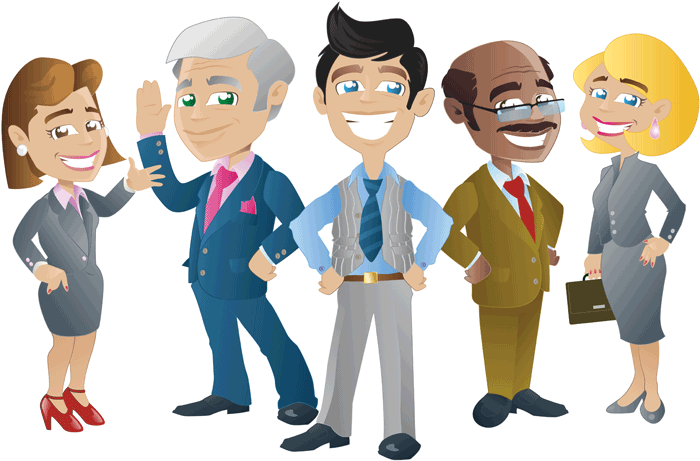Meeting clipart small group GoGetCovered Small cartoon Health illustration: