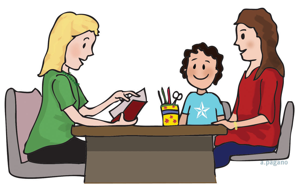 Meeting clipart teacher and student Hd Students clipart collection Conversation