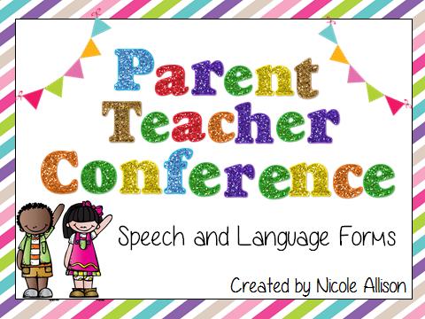 Meeting clipart teacher meeting Conference Speech Peeps Teacher Parent