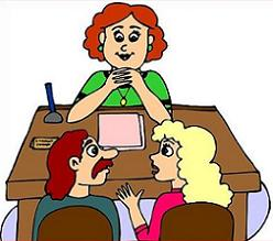Meeting clipart teacher meeting Parent Conference Teacher and Parent