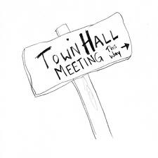 Date clipart town hall meeting  Meeting Hall Town