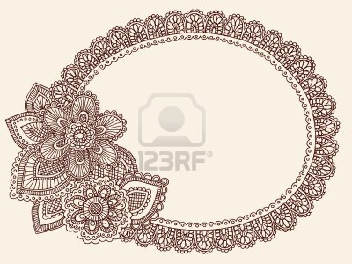Drawn photos lace flower  Henna/Mehndi Henna/Mehndi Doilie Doodle