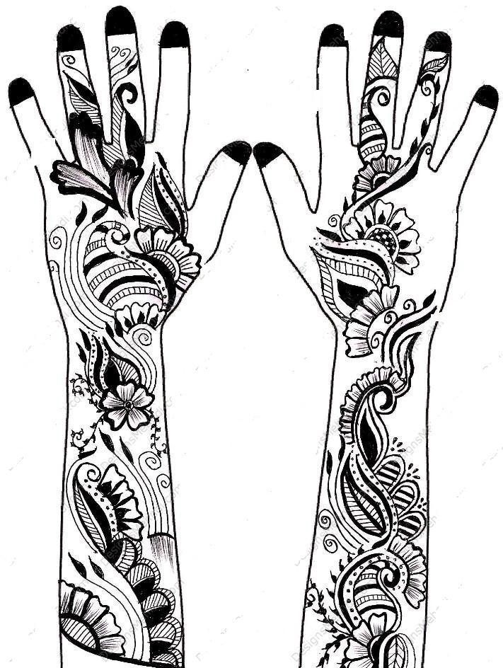 Mehndi clipart bridal mehndi Bridal images henna designs best