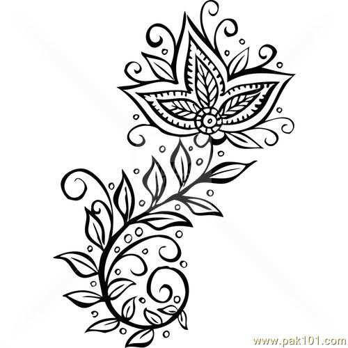 Mehndi clipart bridal mehndi Drawing Images  Mehndi