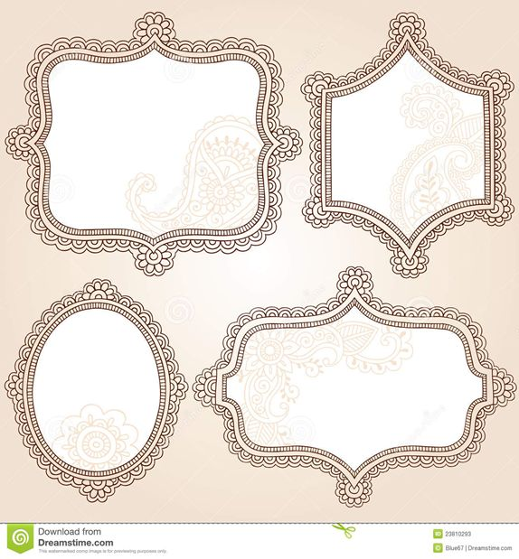 Mehndi clipart cradle Frames Banners and Pinterest images