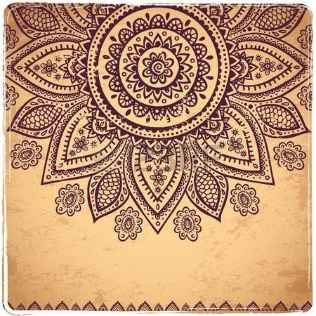 Mehndi clipart indian flower Mehndi Illustration more on mehndi