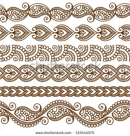 Mehndi clipart indian flower Patterns indian floral elements in