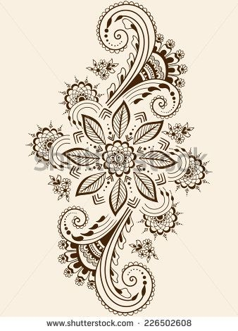 Mehndi clipart indian flower Best style in Indian mehndi
