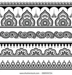 Mehndi clipart leg indian Seamless Henna design tattoo Henna