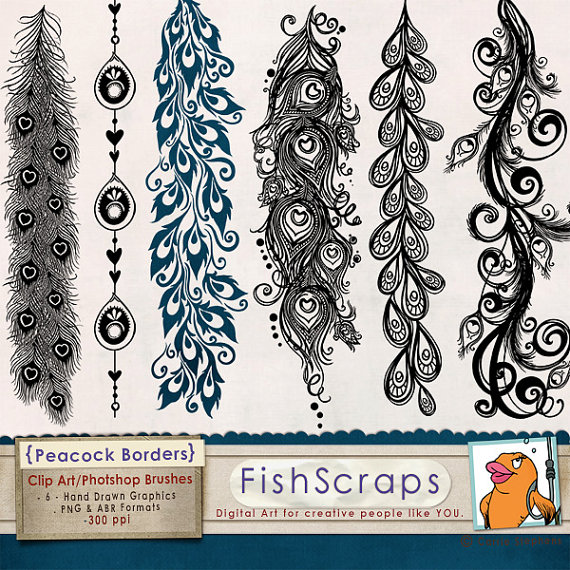 Peacock clipart art brush Art ClipArt Wedding Feather Clip