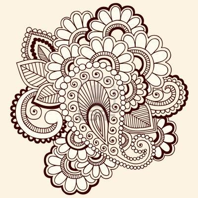 Mehndi clipart zentangle Drawn abstract 6807576 abstract drawn