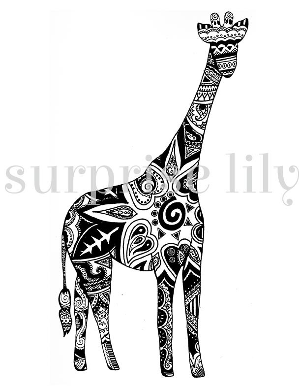 Mehndi clipart zentangle Digital Coloring Henna Adults Printable