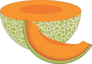 Cantaloupe clipart cartoon Melon Clipart  Clip Melon
