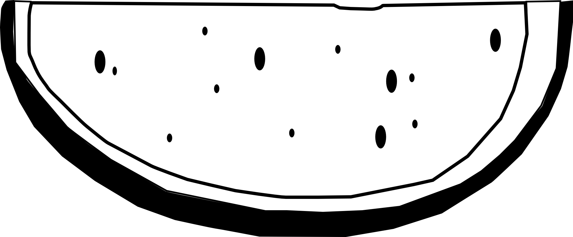 Watermelon clipart black and white  Slice Clipart White Image